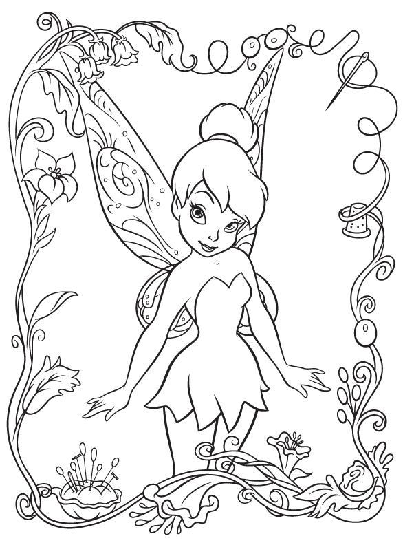Dibujos Tinkerbell para colorear ~ Portal de Manualidades