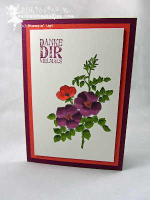 Stampin' Up! Sweetbriar Rose, Tausend Dank, Lots of Thanks, Mix Marker, Blendabilities