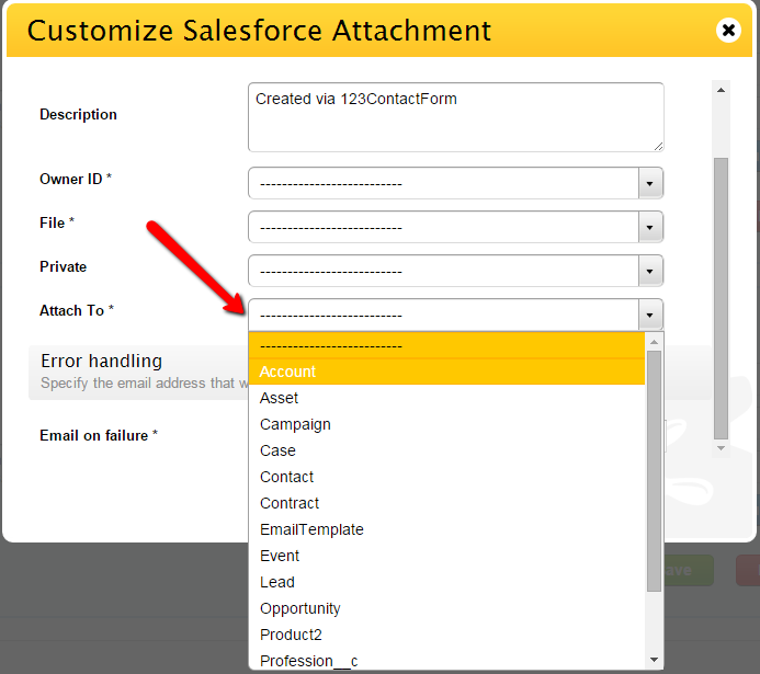 123FormBuilder SalesForce Attachment