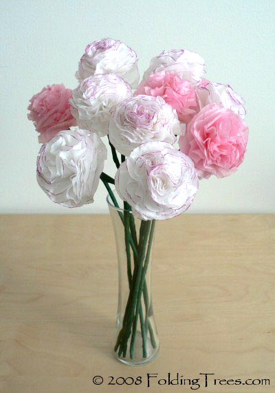 Innovative Handicrafts Carnation Paper Flower Making