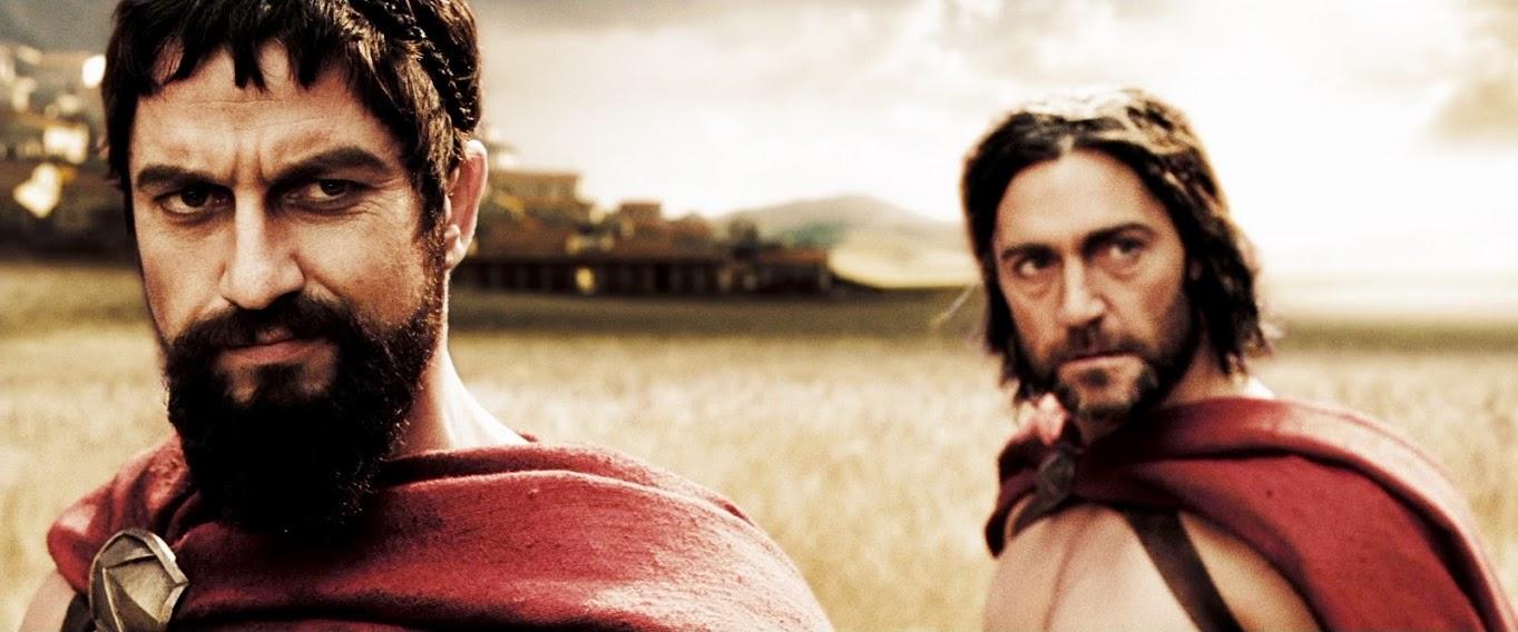 Captain Artemis & King Leonidas - 300 - (Vincent Regan ... Gerard Butler 300