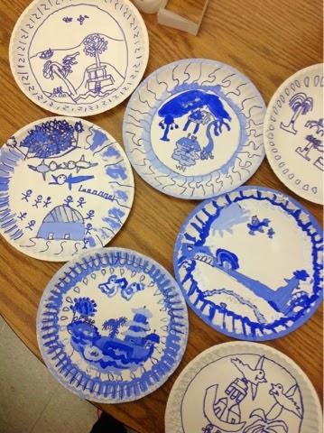 & Mrs. Knightu0027s Smartest Artists: Blue Willow in 2nd grade