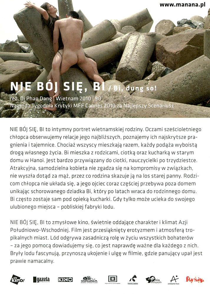 Ulotka filmu 'Nie Bój Się, Bi! (tył)'