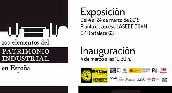 Exposición '100 elementos del Patrimonio Industrial en España' en LaSede COAM