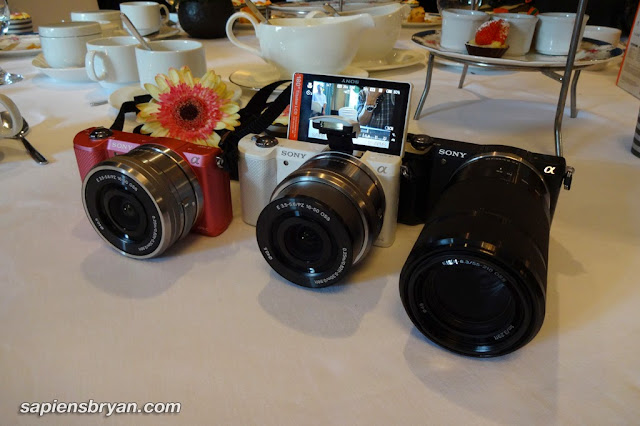Sony Alpha 5000 is available in 3 colours (White, Black & Pink)