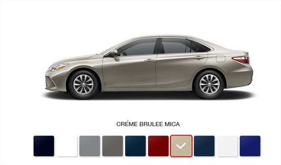 2016 toyota camry hybrid colors