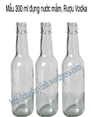 chai 300 ml đã có nắp chai đóng sẵn vừa vặn với cổ chai