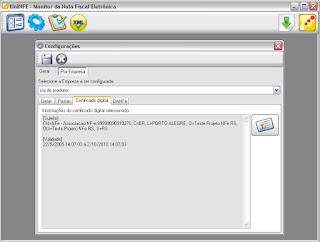 NeXT ERP NFe 2.0 segunda geração integração UniNFe Certificado Digital