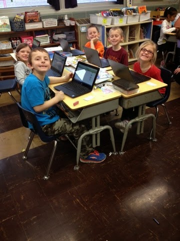 Waverly First Grade Working With Chromebooks