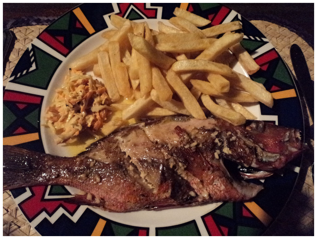 Life 39 s a beach pemba mozambique for Red lobster fish and chips