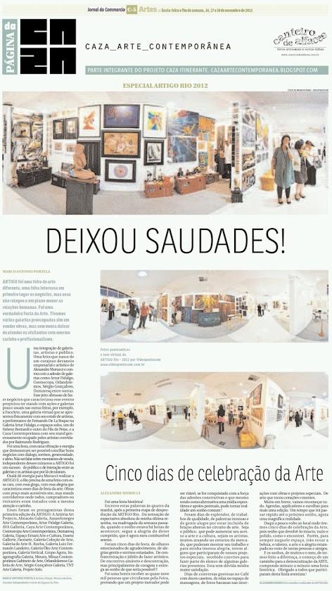 Página da Caza - 16 de Novembro de 2012