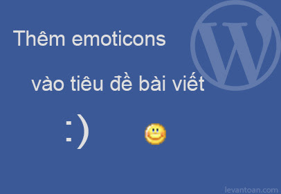 How to convert to emoticons from post title in wordpress?