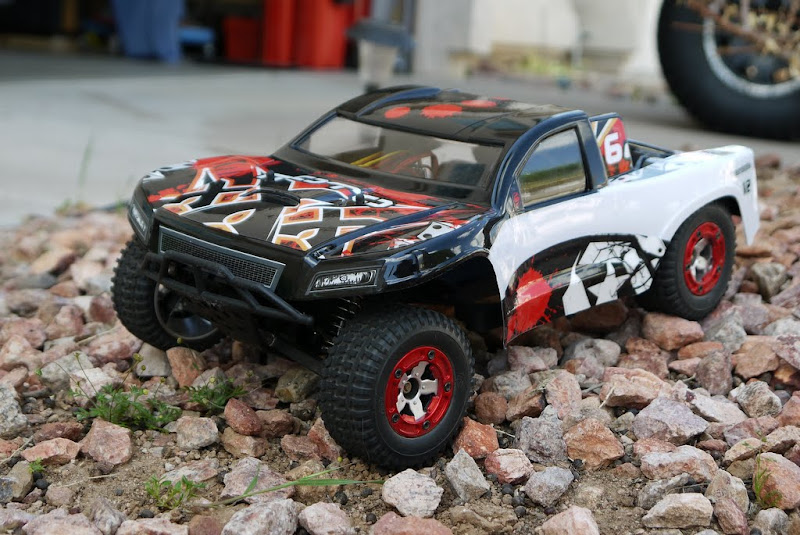 customized 1/16 Losi Mini-SCT (short course truck)