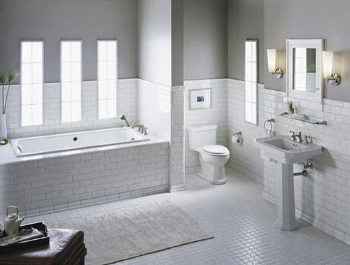 White subway tile bathroom ideas and pictures for White bathroom tile ideas