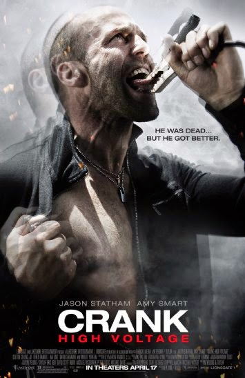 Poster Of Crank: High Voltage (2009) Full Movie Hindi Dubbed Free Download Watch Online At Alldownloads4u.Com