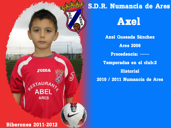 A. D. R. Numancia de Ares. Biberones 2011-2012. Axel