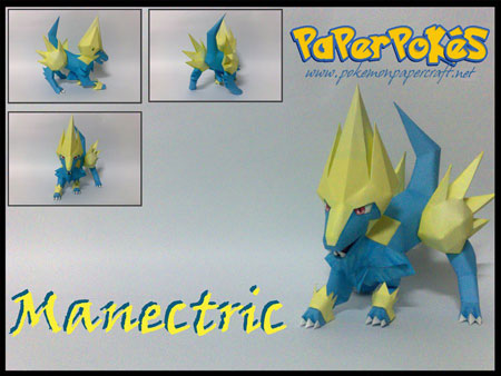 Pokemon Manectric Papercraft