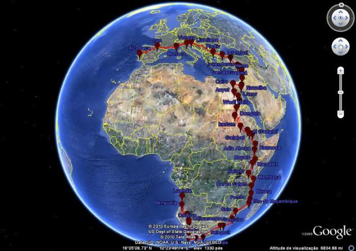 Portugal - Angola Tricontinental Solo J Ride Etapas