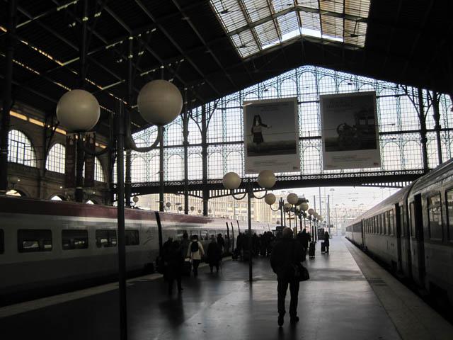 プラットフォーム@パリ北駅