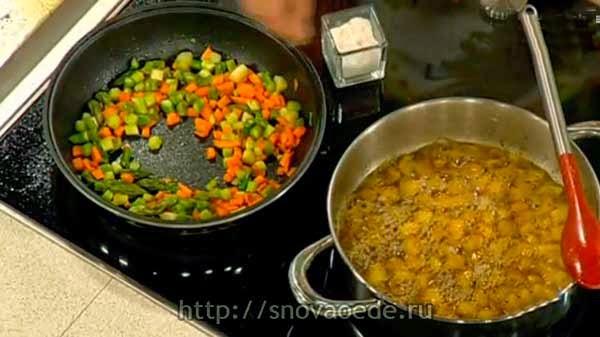 овощи к лососю