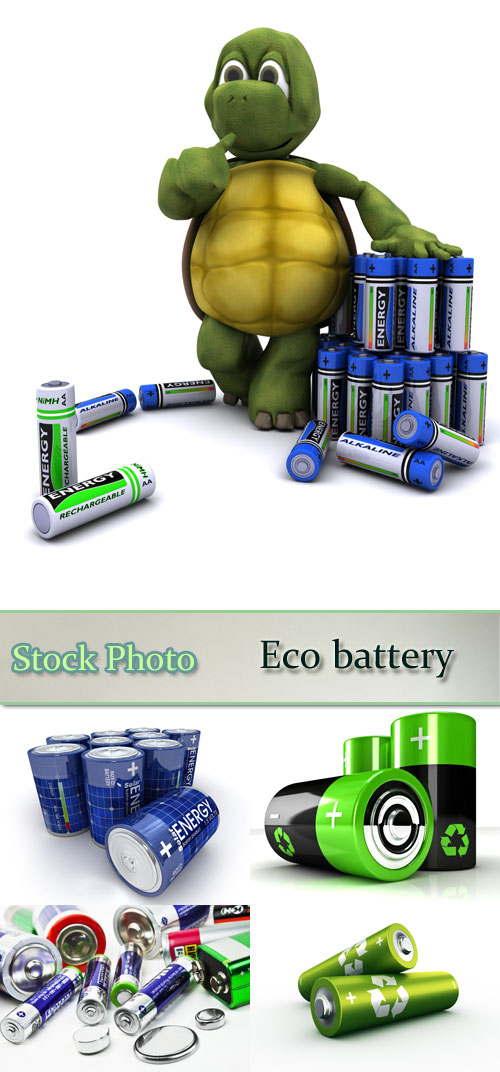 Stock Photo: Eco battery