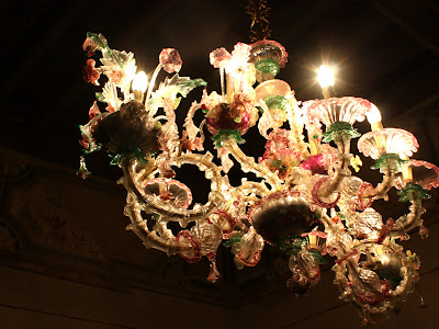 Chandelier in Albergo Cappello in Ravenna Italy