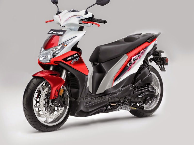 modifikasi motor beat warna merah