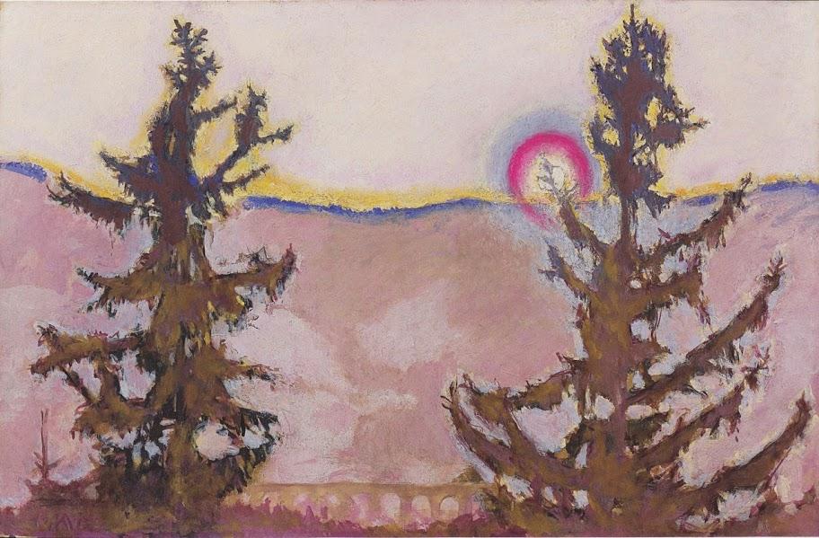 Koloman Moser - Landscape in Semmering,1913