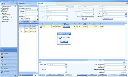 Save Invoice