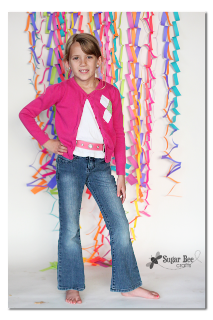 colorful photo backdrop idea