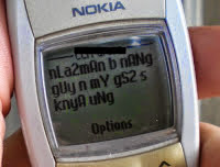 Image of SMS ruin the grammar