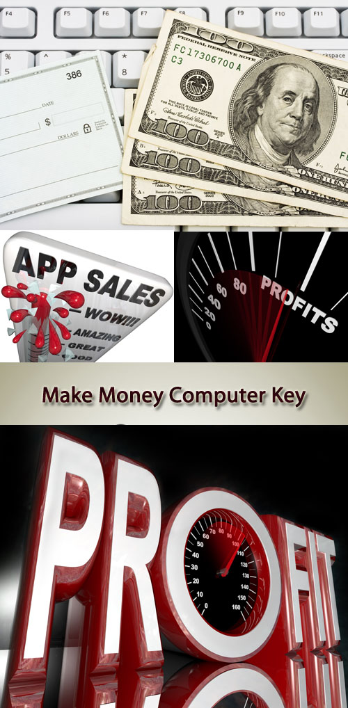 Stock Photo: Make Money, Computer Key