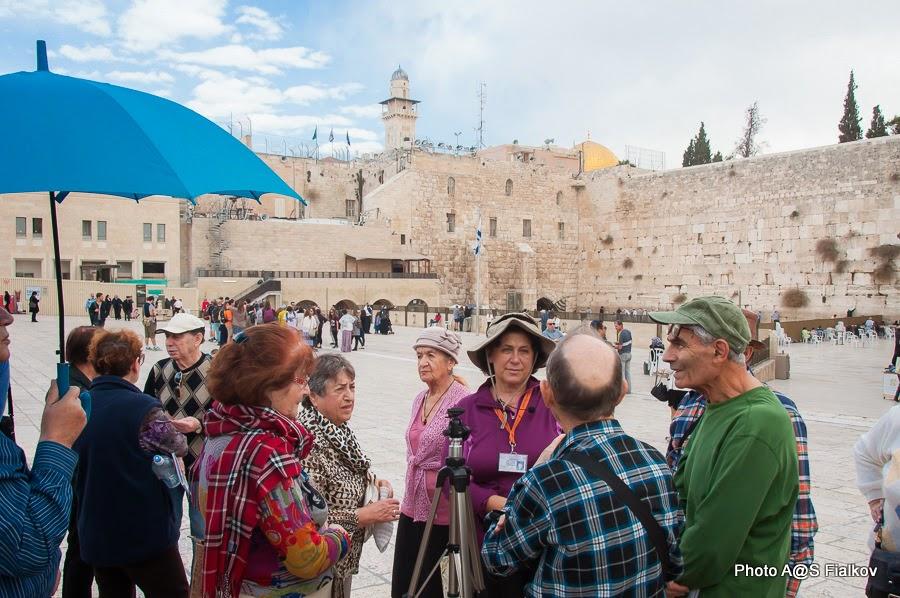 У стены Плача в Старом городе Иерусалима. Экскурсия Светланы Фиалковой