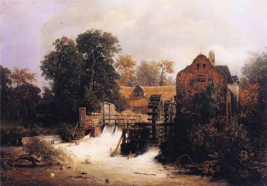 Andreas Achenbach - Westphalian Mill.