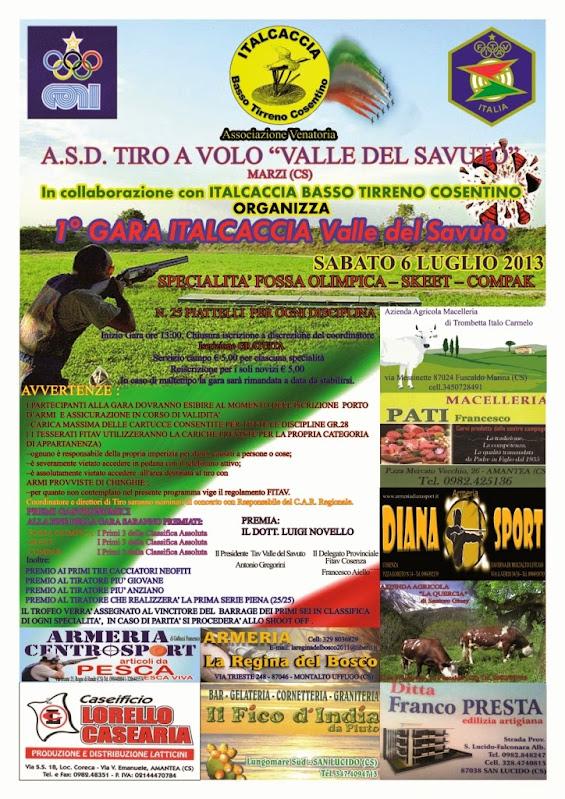 1a gara italcaccia 2013 -  valle del savuto