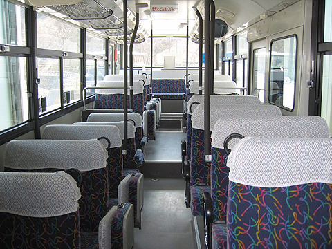 斜里バス 三菱エアロスター TLEV 車内