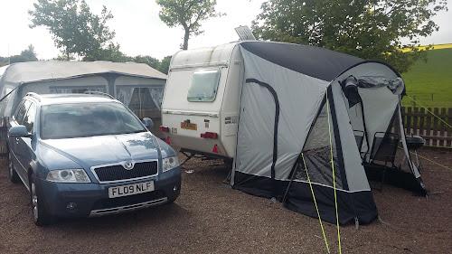 Camping  at Scoutscroft Caravan Park