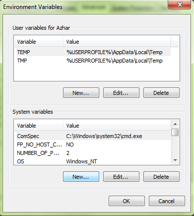 Setting environment variables di windows
