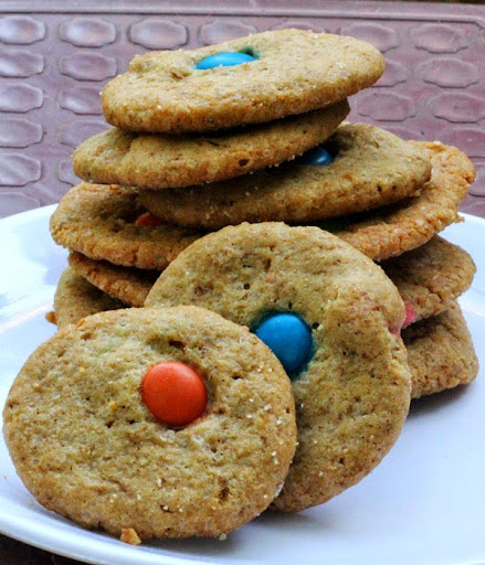 M M Cookies Recipe Eggless Gems Candy Cookies Step By Step
