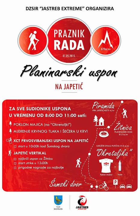 Prvomajski pohod na Japetić, 1.5.2015.
