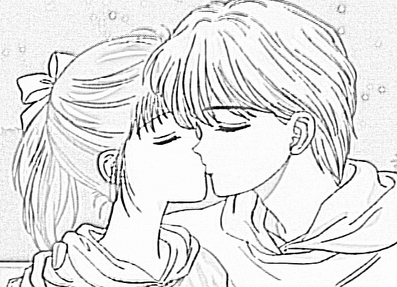 Cute Kiss Colouring Pages Anime Couples Coloring Pages
