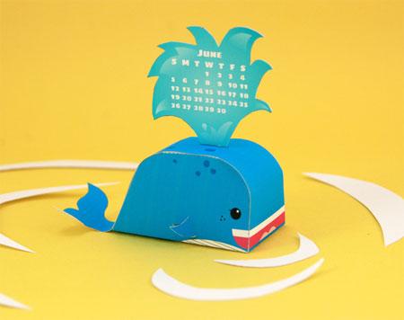 2011 Whale Calendar Papercraft
