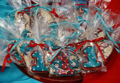 Dr Seuss Cookies Thing 1 and Thing 2