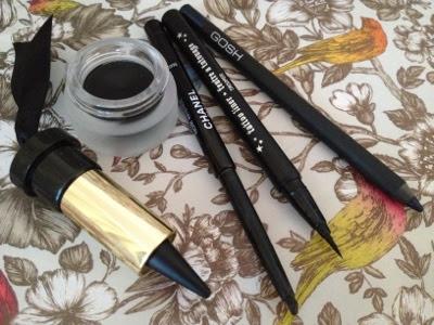 selection of black eyeliners