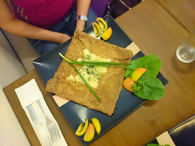 Savoury Crepes at Tymad Bistro