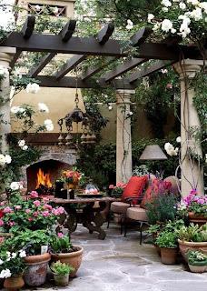 chimenea exterior porche precioso