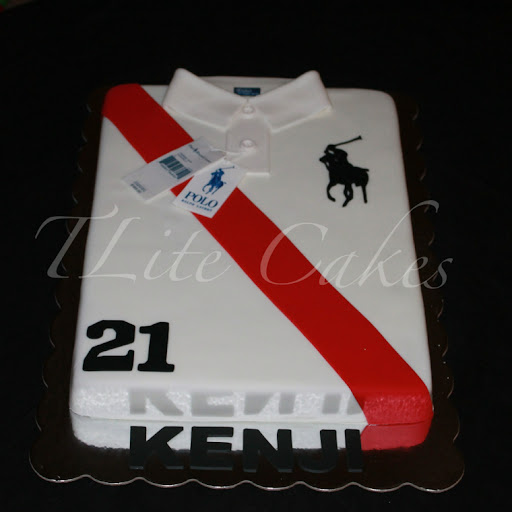 TLite Cakes and Planning: Polo Shirt Cake and Cup Cakes