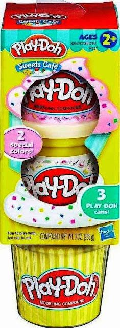 Bột nặn 3 màu làm kem Play-Doh Plus trắng hồng rất an toàn đối với các em nhỏ
