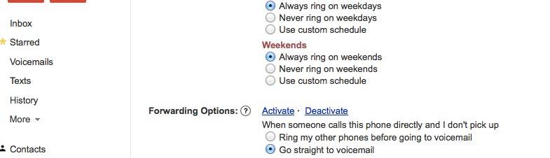 Verizon - google voice looping, too many rings before