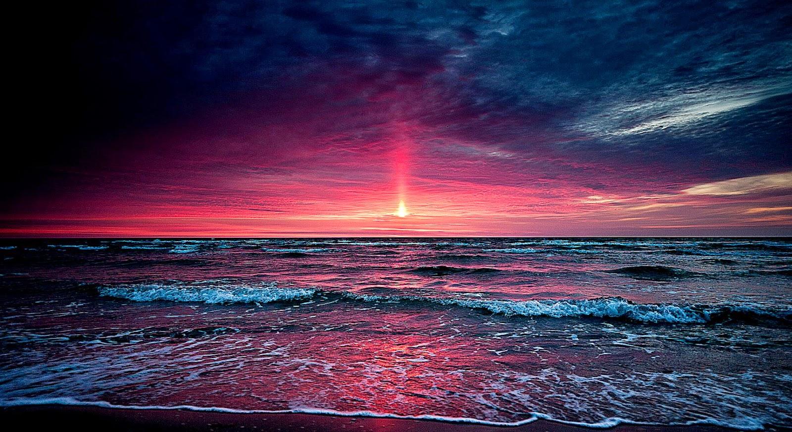 Sunset Beach Wallpaper Desktop Background  Amaimages